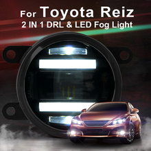 цена на For Toyota Reiz led fog lights+LED DRL+turn signal lights Car Styling LED Daytime Running Lights LED fog lamps 2010-2014