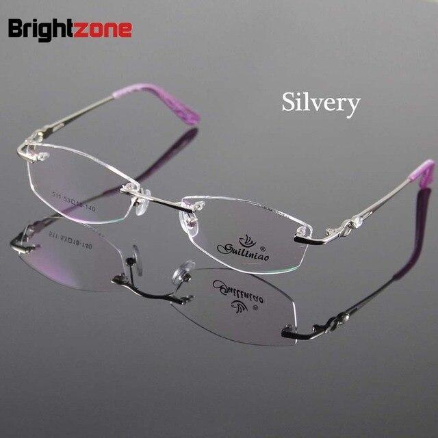 ab558760e 2 Color Women Eyeglasses Frame Designer Rimless Women Glasses Spectacles  Optical Frame Prescription Eyewear Eyeglass Frames