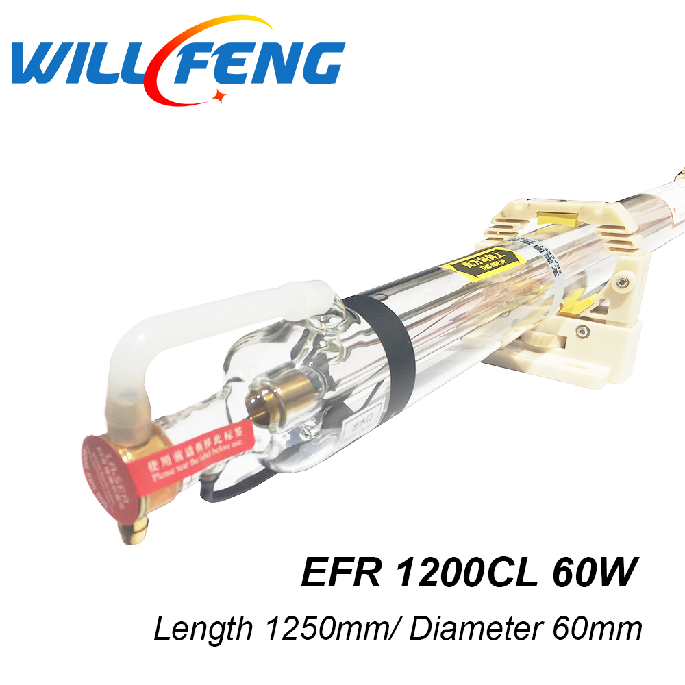 EFR 60W 1200cl CO2 laser tube for CO2 laser engrave machine Carbon Dioxide Laser 60w laser