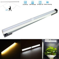 Portable 20 Leds IR Body Sensor Lights USB Camping Lamp Rechargeable Night Light For Cabinet Bedroom