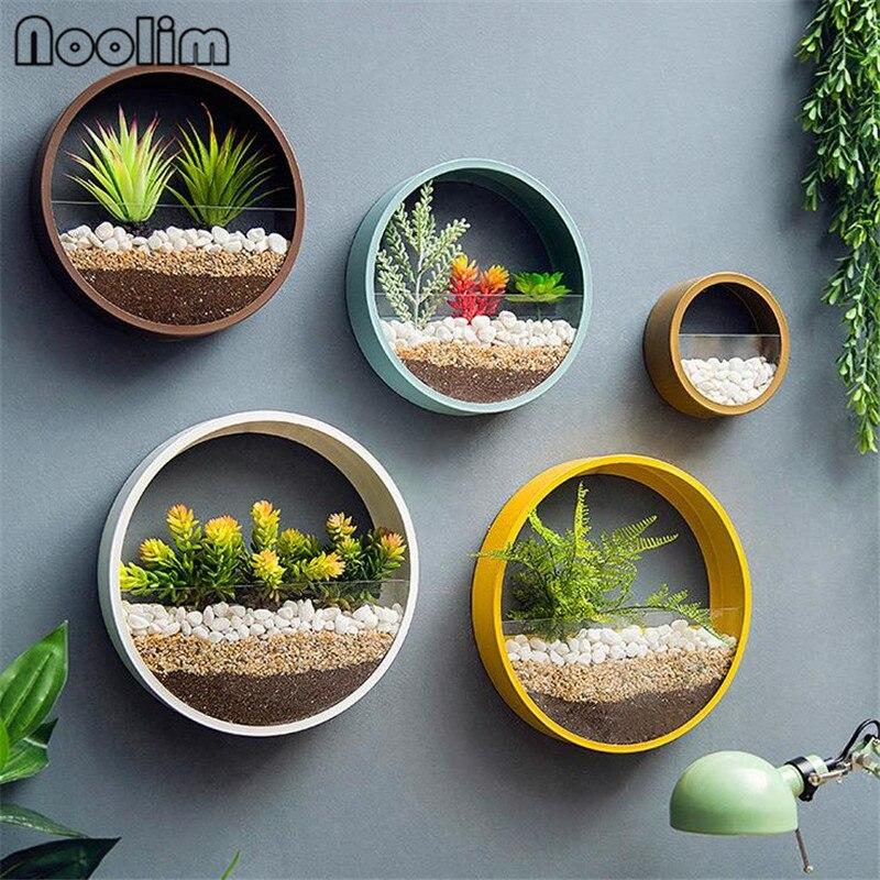 Circular Wall Hanging Flower Basket -