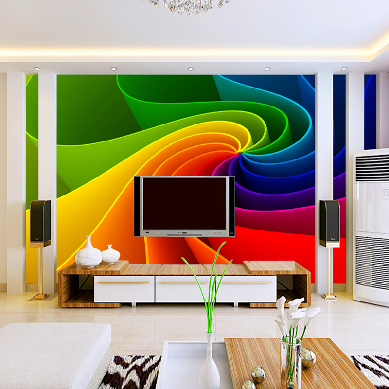 Custom Mural Wallpaper 3D Abstract Geometric Art Photo Wall Papers Bedroom Living Room TV Background Home Decoration Wallpaper  free shipping 3d wall breaking basketball background wall bedroom living room studio mural home decoration wallpaper