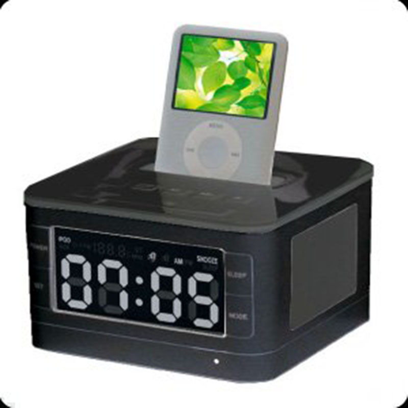 Portable Loud Speaker B7 Speaker Dock Station for Apple ipod//touch/iphone 4/4s/Ipone6/6s FM Radio Clock Remote Control
