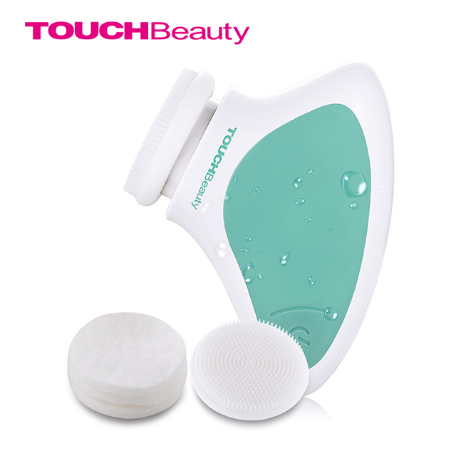 TOUCHBeauty Silicone face cleansing brush, Mini Sonic vibration Cleansing System Waterproof facial cleansing brush TB-1288