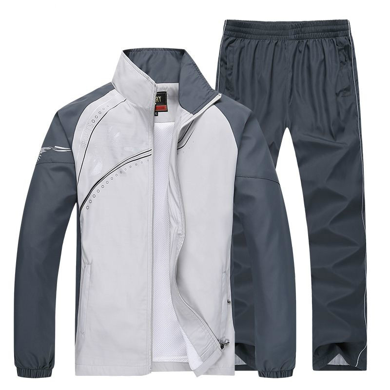 2019 Brand Spring Autumn Tracksuit Men Two Piece Sets Casual Track Suit Sportswear Sweatsuits Sporting Clothing Size M~5XL