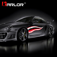 Shark Mouth Funny Car Stickers Waterproof Exterior Side Door Decal Car Vinyl Film Automobiles Car Styling