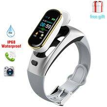 все цены на Caller Bluetooth Headset Bracelet H109 Talk Band Color Screen Smart Bracelet 2-in-1 Separate Heart Rate Blood Pressure Monitor онлайн