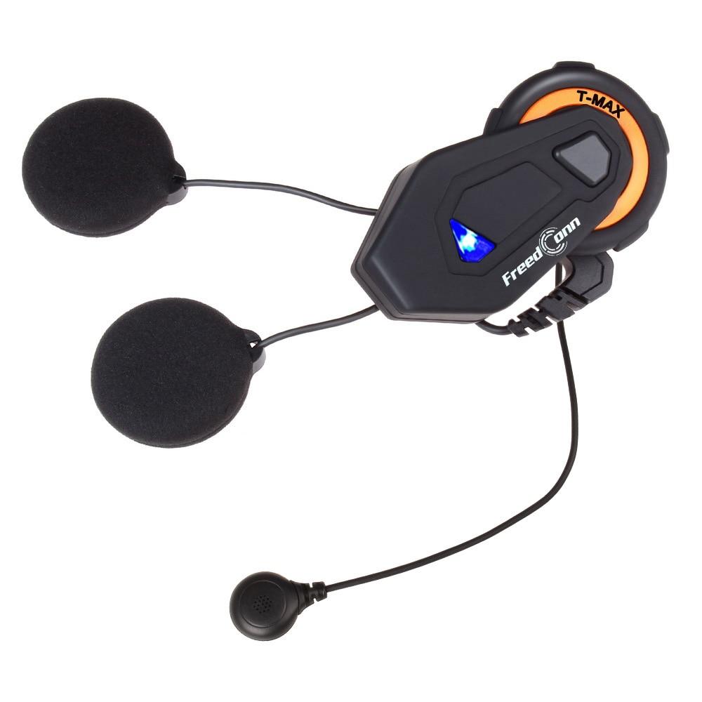 Soft Headset+T-MAX motorcycle helmet bluetooth intercom 8 riders group intercom BT Interphone FM Radio Bluetooth 4.1