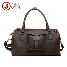 "JOYIR 20"" Large Capacity Genuine Natural Leather handbag men travel bags men bag Laptop briefcase business tote handbags #6333"