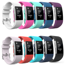 Replacement Wristband For Fitbit Charge 2 Band Soft Silicone Wrist Strap Watchband Bracelet Strap Smartwatch Band 5 clos replacement colorful wristband band strap bracelet wrist strap f58695 181002 jia
