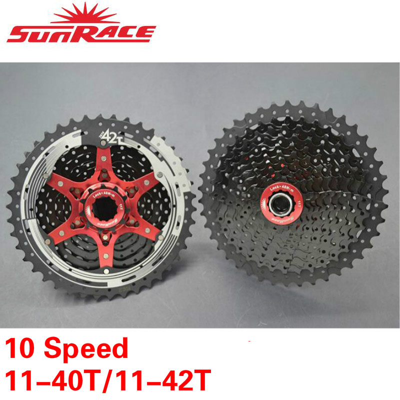 Sunrace Mx3 Mountain Bike Bicycle Shimano 10 Speed Cassette 11-40t Or 42t Cassettes, Freewheels & Cogs