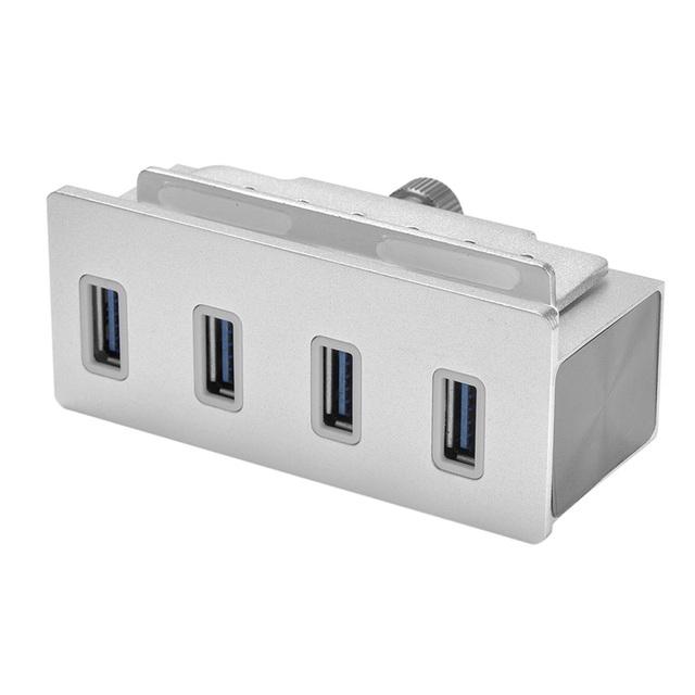 Clip-on USB 4 Portas de Alumínio de alta Velocidade 3.0 Hub Para Apple i-Mac PC Magro Unibody com braçadeira de Alta Qualidade