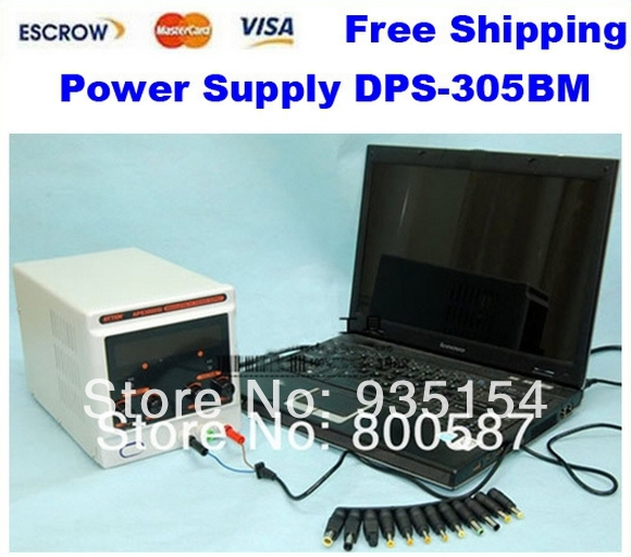 Freeshipping power adapter power supply DPS-305BM 220V Digital Control 30V 5A DC Voltage Regulated, Laptop Repair+34 free Plugs 38mm cylinder barrel piston kit
