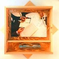 Из Металла Стекло Песочные часы USB 3.0 Memory Stick флэш-накопитель с пользовательские клен Альбом Box (более 10 шт. логотип бесплатно)