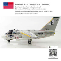 Hobby Master 1/72 Scale Military Model Lockheed S 3A Viking VS 28 Hukkers Fighter Diecast Metal Plane Model Toy For Collection