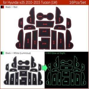 Image 4 - Alfombrillas de goma antideslizantes para ranura de puerta, accesorios adhesivos para Hyundai ix35 2010 2015 LM Tucson ix 2010 2011 2012 2013 2014 2015