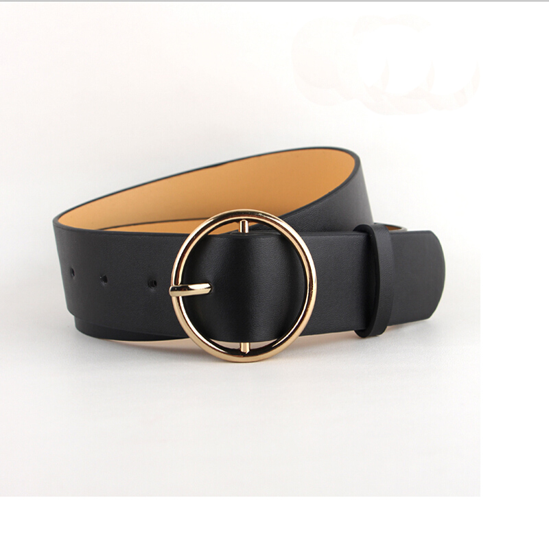 Nieuwste hete verkoop mode gouden gesp vrouwelijke lederen riem - Kledingaccessoires - Foto 5