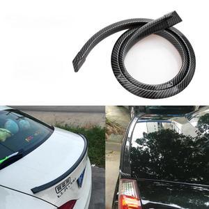 Image 2 - Universal nachahmung Carbon Faser Auto Hinten Dach Spoiler Stamm lip Flügel Auto Boky kit Trim Motor Shields 1,5 meter