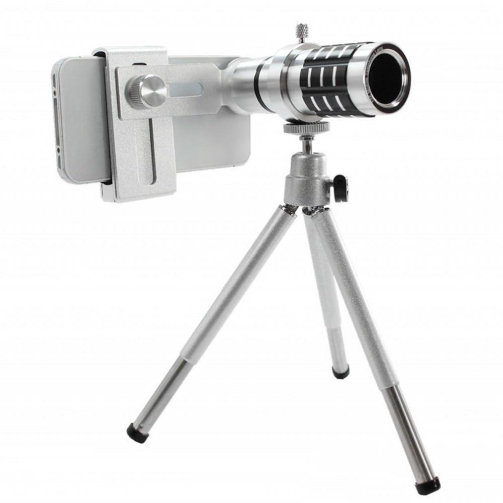 12X Zoom Mobile Phone Lens for iPhone 7 6S plus Samsung S7 S8 plus Smartphones Clip Telescope Camera Lens With Mini Tripod