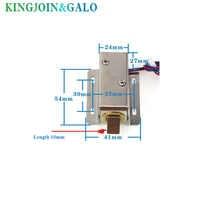 Cerradura de puerta electrónica de entrega rápida 24 V cerraduras eléctricas pequeñas cerraduras de armario cajón pequeño bloqueo eléctrico rfid control de acceso