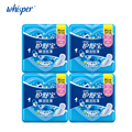 Whisper Sanitary Napkin Ultra Thin Pads With Wings Soft Mesh Women Health Care Day Use Regular Flow 240mm 12pads*4packs