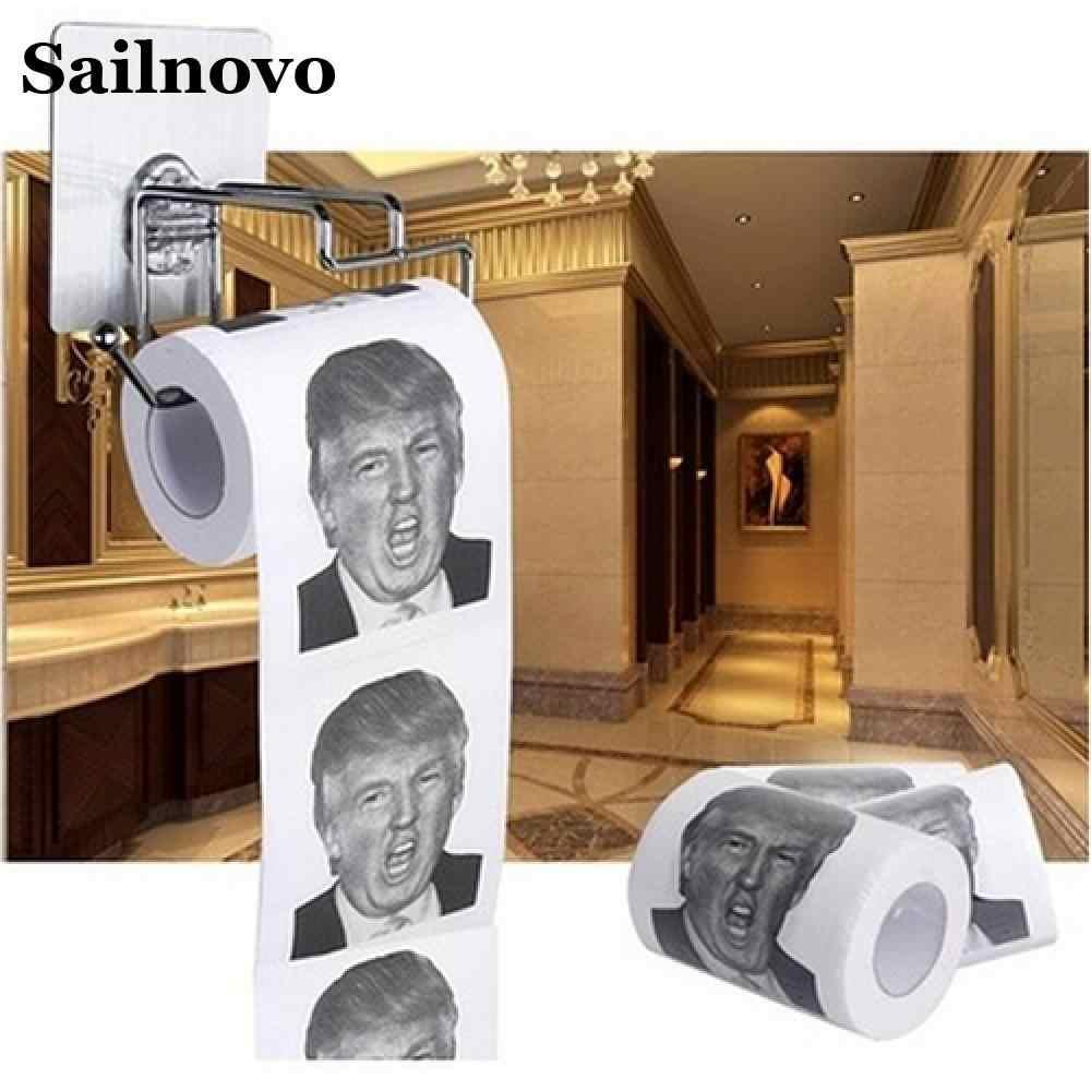 Юмор автомобильной Бумага полотенца древесины туалетной Бумага Новинка Дональд Бумага Смешные Трамп с Трамп кляп Туалет подарок Dump Roll