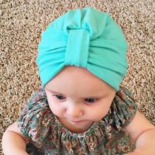 New Design Cute Baby Hat Cotton Soft Turban Knot Summer Hat Boho Style Children Newborn Indian Hat Multicolor Optional black hat design cute backpack