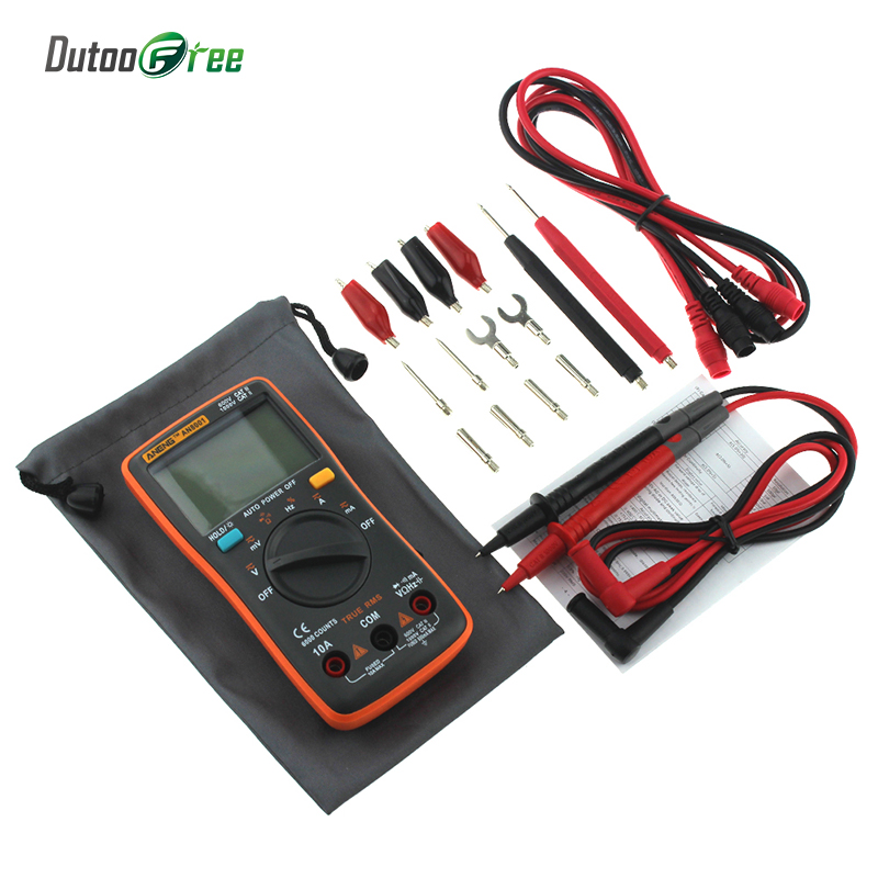 Multimetro Digital Professional LCD Digital Multimeter 6000 counts Backlight AC/DC Ammeter Voltmeter Ohm Portable Meter auto digital multimeter 6000counts backlight ac dc ammeter voltmeter transform ohm frequency capacitance temperature meter xj23