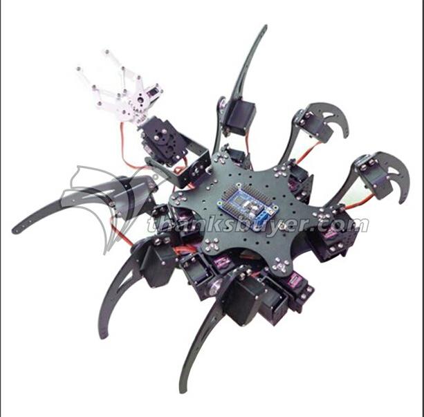 20DOF Alumínio Hexapod Robotic Aranha Kit Seis Pernas Quadro Robot