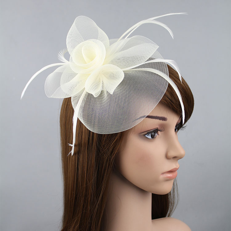 Hot sell for eaby Amazon wish Elegant Lady Women Fascinator Hat Clips  Hairpins Hair Accessories Church Wedding Hair Decoration-in Women s Hair  Accessories ... 0f960cc65cf