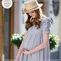 Vestidos de verão Mulher Grávida Maternidade Bottoming Tops Primavera Longa Seção Mulher Grávida Maternidade Roupas Cozy Roupas