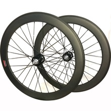 700c Carbon track wheels fixed gear carbon wheelset 60mm clincher single speed bike wheels tubular fixie carbon wheelset