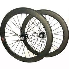 700c koła gąsienic węgla kolarskie węgla koła rowerowe 60mm clincher rower jednobiegowy koła tubular fixie węgla koła rowerowe