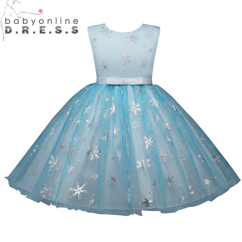 Babyonlinedress Real Photo Ball Gown Tank Sleeveless Tulle Flower Girl Dress For Weddings Blue Kids Party Gowns With Appliques