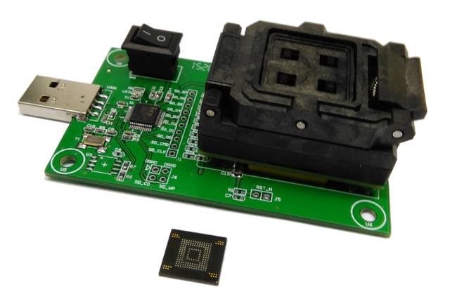 US $144 0  eMMC socket with USB,apply to BGA 169 and BGA 153 testing,size  12x16_0 5mm,eMMC programmer,nand flash testing,Clamshell-in Integrated