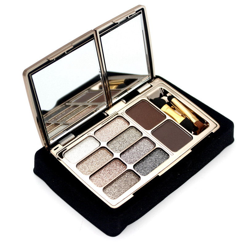 8 Colors Diamond Bright Makeup Eyeshadow Palette Make Up Set Shimme Smoky Eye Shadow Maquillage Professional Cosmetic With Brush