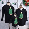 Family Matching Clothes Christmas Cosplay Costume Family Look Christmas Family Cosplay Matching Mother and Daughter Cotton Black
