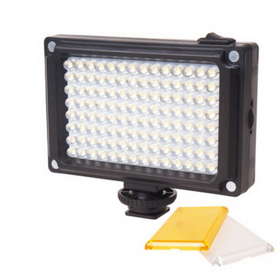 by dhl or ems 50pcs new 112 LED Dimmable Video Light Rechargable Panal Light White Warm