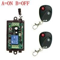 DC 12V 24V 1 CH 1CH RF Wireless Remote Control Switch System 315 433 MHZ 2X