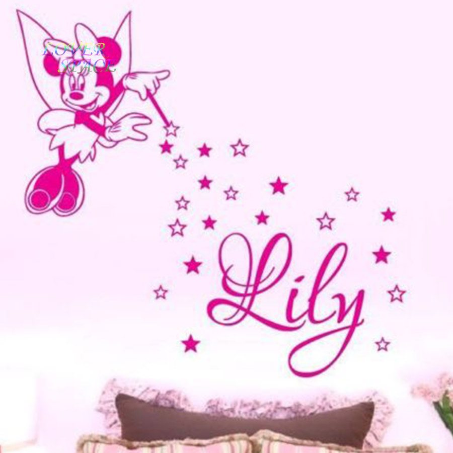 compare prices on personalized minnie mouse online shopping buy personalized name minnie mouse custom name wall sticker removable 3 designs walt mickey mouse