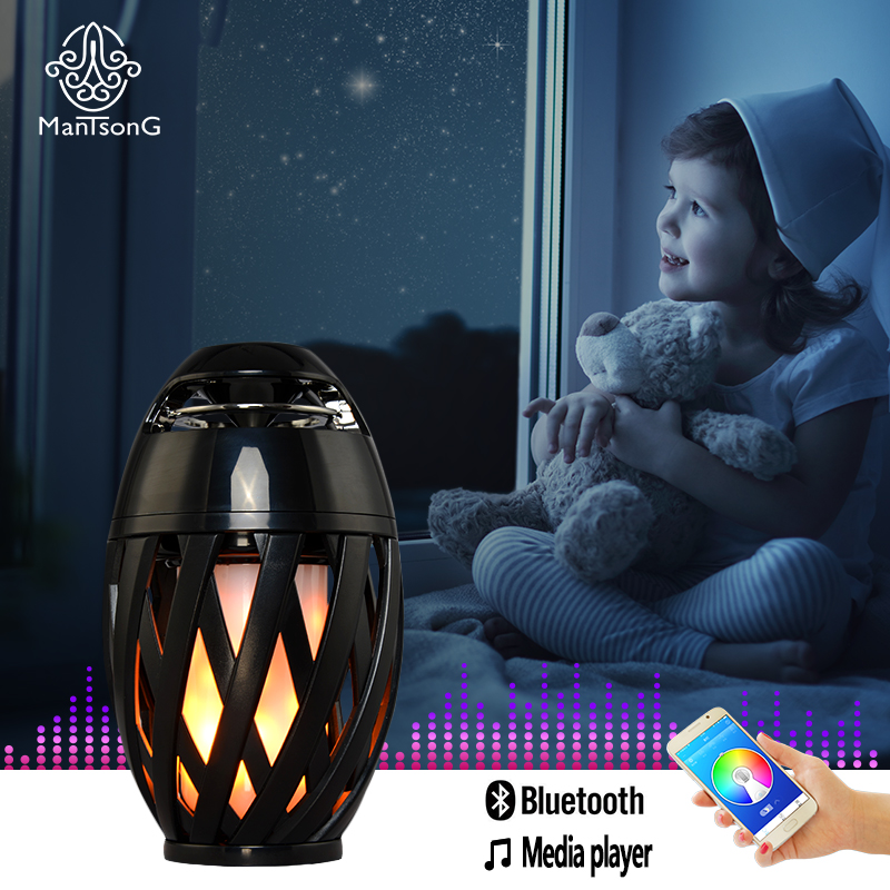 LED Flame Lights With Bluetooth Stereo Speaker Outdoor/ Indoor Portable USB Charger Atmosphere Lamp Waterproof Lawn Light bv200 portable wireless bluetooth speaker outdoor pocket stereo speaker