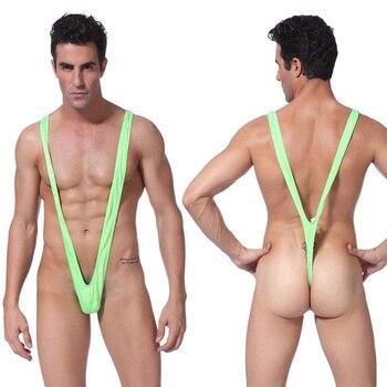 Tonichella Sexy Mens Briefs Thong G String Bikini Bottom Swimwear Borat jockstrap Underwear Low Waist Backless Buttocks SCL169 roupas da moda masculina 2019
