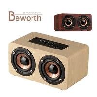 木製ワイヤレスbluetoothスピーカーポータブルオーディオハイファイ衝撃低音ホームシアターサウンドレシーバーステレオ音楽ラジカセ用iphone x 8