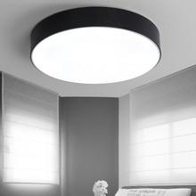 Einfache Moderne Led Deckenleuchte Wohnzimmer Schlafzimmer Kche Lampe Dekor Hause Beleuchtung Acryl Lampenschirm Weiss Schwarz E