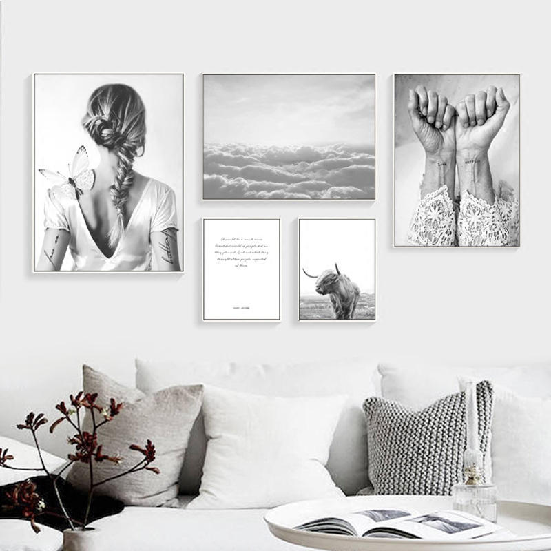Nordic poster abstract wall art canvas painting nordic cuadros decoracion posters and prints - Poster decoracion ...
