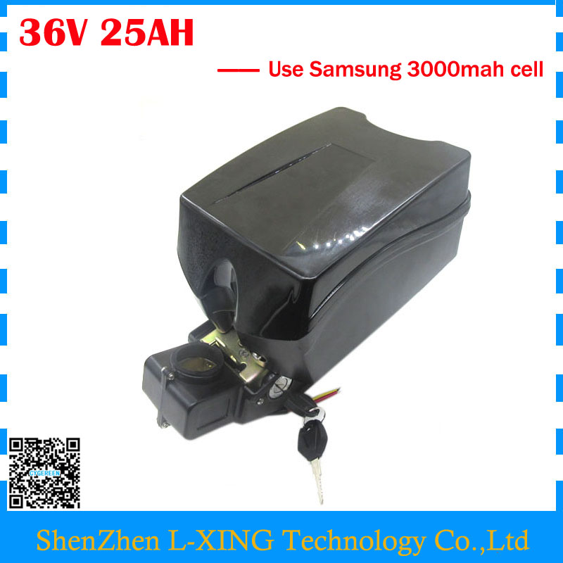Free customs duty 36V E scooter battery 36V 25AH lithium ion battery Use for samsung 3000mah cell 30A BMS with 2A Charger us eu free customs duty lithium 48v 1000w e bike battery 48v 17ah for original panasonic 18650 cell with 5a charger 30a bms