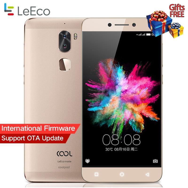 """Оригинальный LeTV Прохладный 1 двойной LeEco Coolpad Cool1 Snapdragon 652 мобильный телефон 3 ГБ Оперативная память 32 ГБ 5.5 """"FHD 13MP двойной камеры отпечатков пальцев ID"""