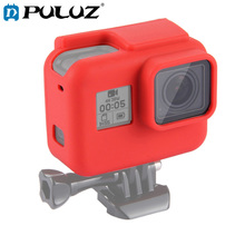 PULUZ Soft Cover Case For GoPro HERO 7/6 Black Housing Silicone Protective Case+Lens Hero5 Hero 2018