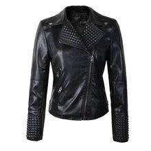 Мотоциклетные заклепках, брендовая жакеты брендовые куртки, поставка прямая модные , кожаные