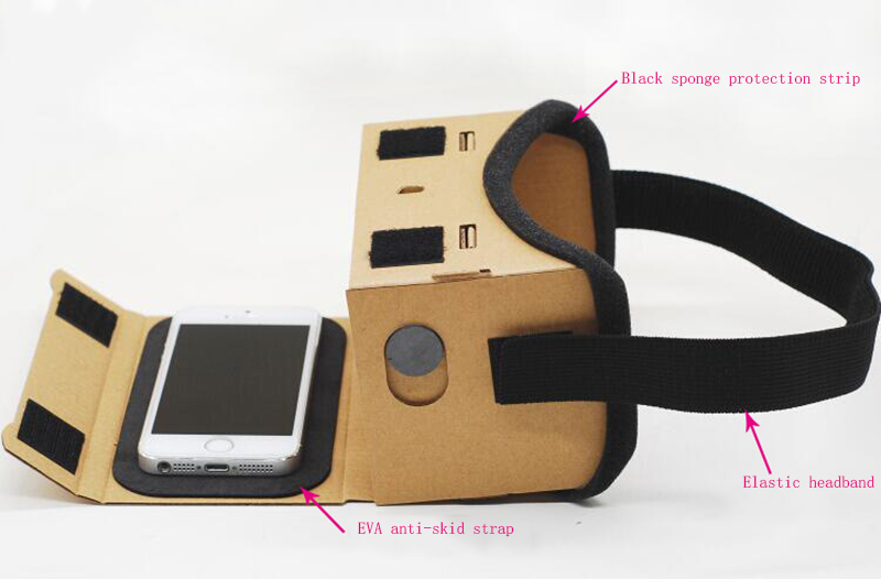 Virtual Reality Glasses Google Cardboard Glasses 3D Glasses VR Box Movies for iPhone 5 6 7 SmartPhones VR Headset For Xiaomi